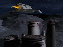 Bajoran Raider flying at night