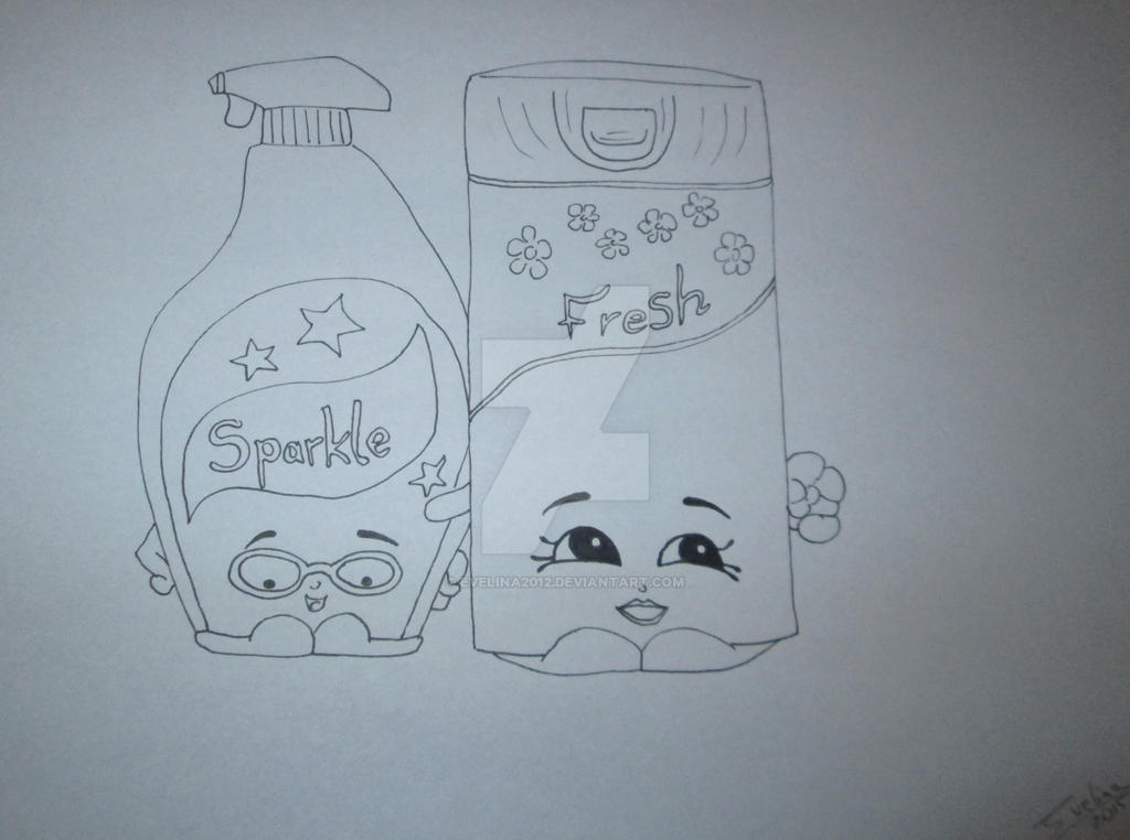 Shopkins Draw Coloring Pages