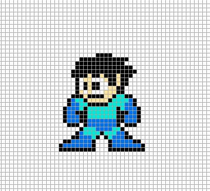 megaman 2 pixel art