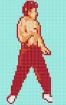 Liu Kang. Mortal Kombat. Pixel Art