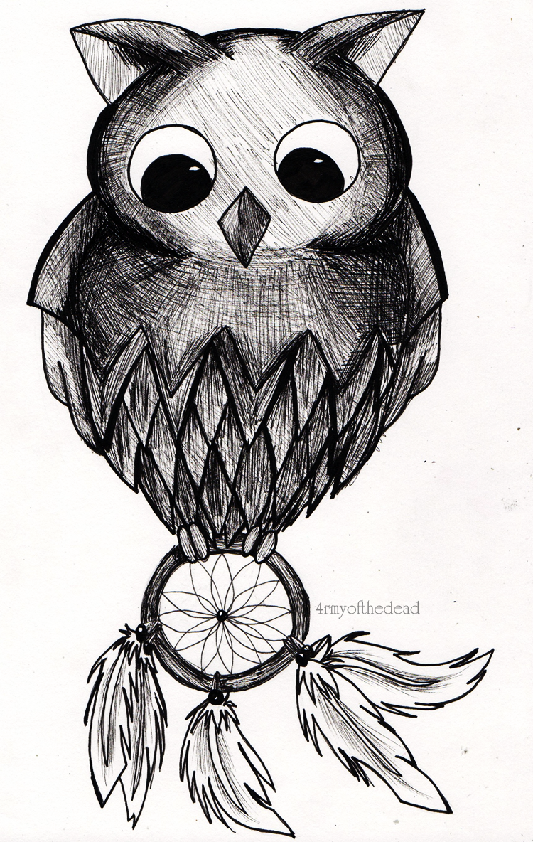 Owl dreamcatcher drawing - photo#39