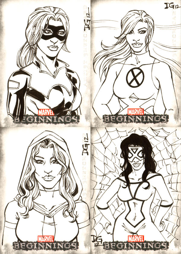 Marvel Beginnings Series III sketch cards 2 by mechangel2002