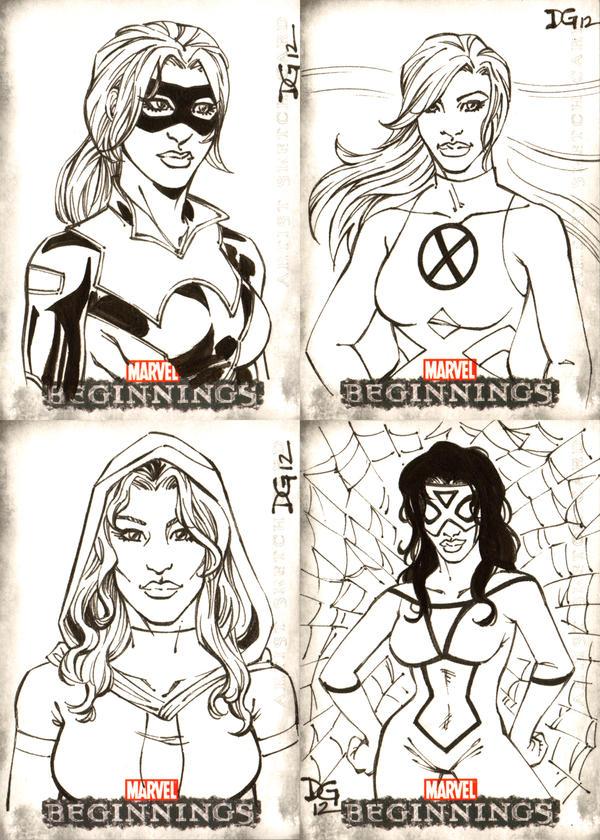 Marvel Beginnings Series III sketch cards 2 by mechangel2002