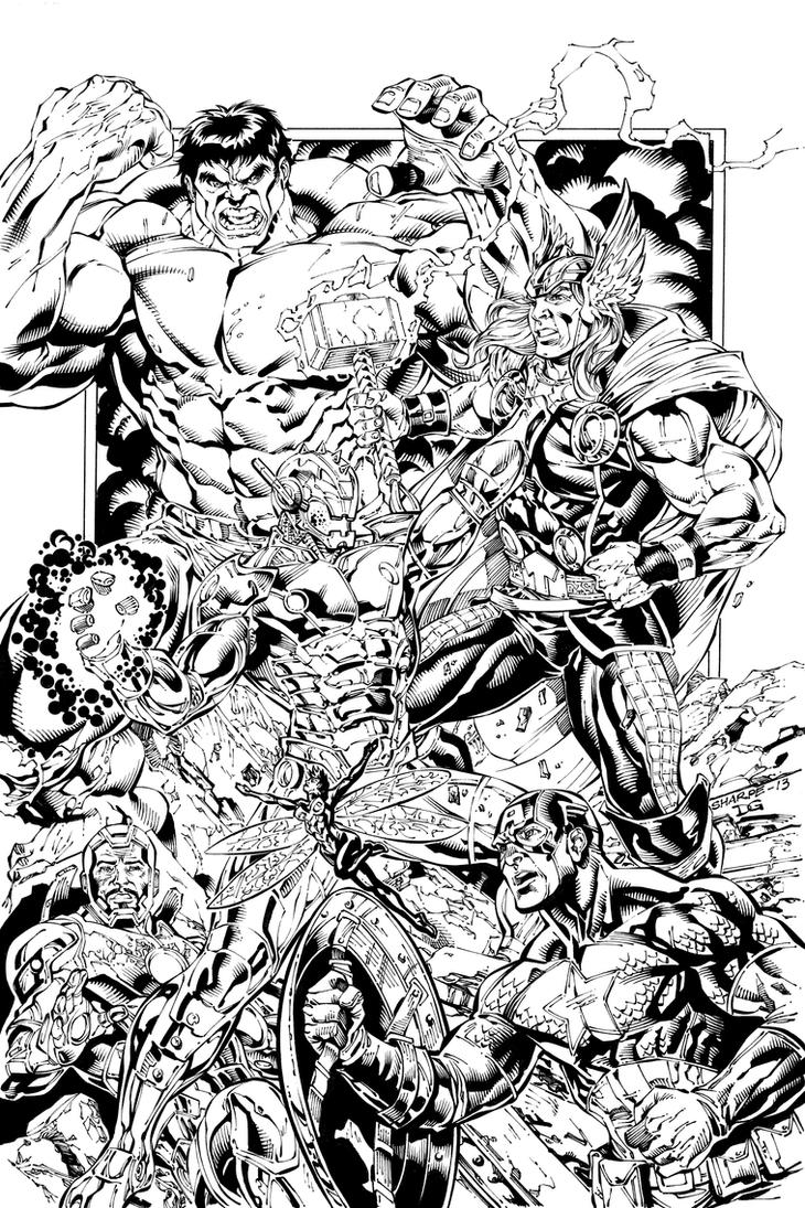 Avengers VS Ultron with Sharpe by mechangel2002