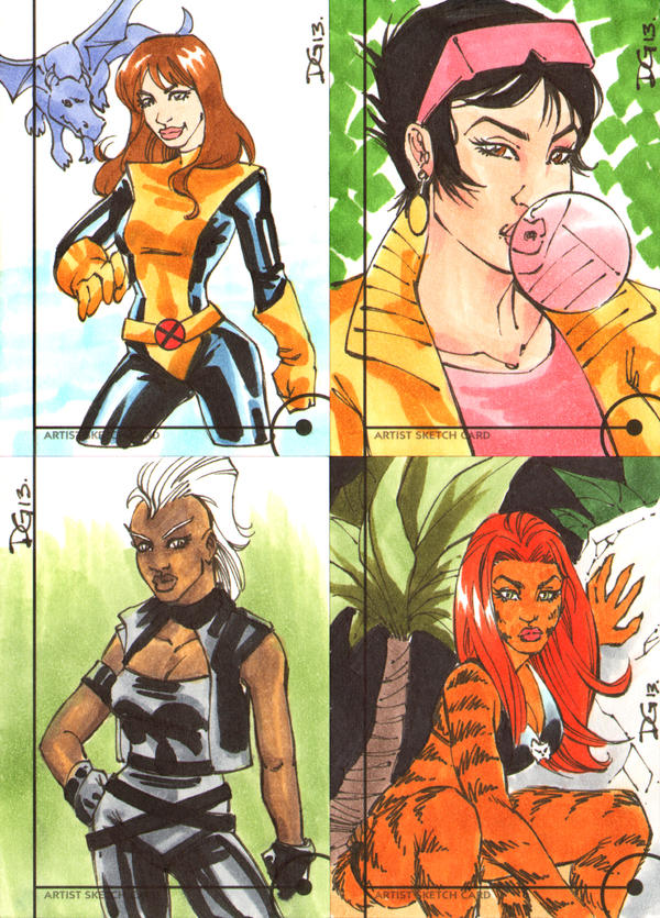 Fleer Retro Marvel sketch cards 2 by mechangel2002
