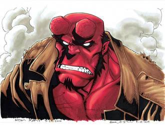 Fan Expo Van 2014 Art Adams Hellboy Colours by mechangel2002