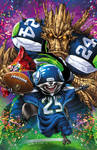 ECCC Seahawks Rocket + Groot with Blond