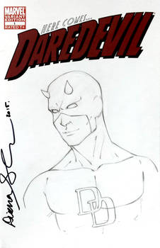 Daredevil sketch cover by mechangel2002