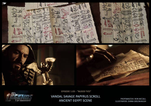 DCs Legends Of Tomorrow Papyrus Scroll Prop