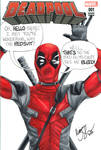 Deadpool movie sketch cover