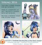 Patreon: Spring 2016 Perks Peek by mechangel2002