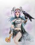 SNAG - Warrior Witch live illustration