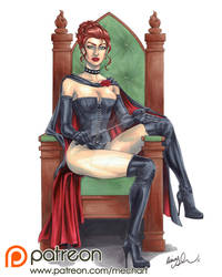Black Queen pinup by mechangel2002