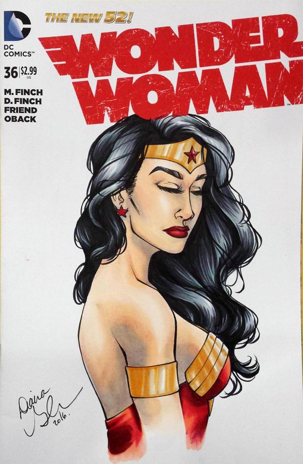 Wonder Woman sketch cover by mechangel2002
