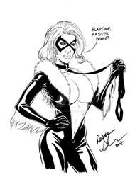 Black Cat petplay sketch by mechangel2002