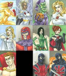 Marvel Premier 2017 Hellfire Club sketch cards by mechangel2002