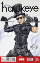 Hawkeye X Alice Cooper mashup sketch cover by mechangel2002