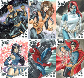 Marvel Premier 2017 sketch cards by mechangel2002