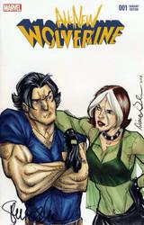 Fan Expo Steven Gordon Wolverine + Rogue colours