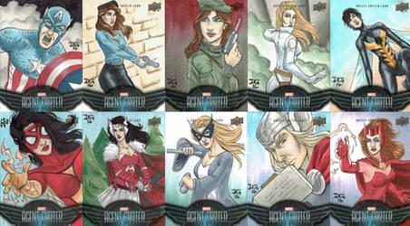 Marvel's Agent Carter 2016 sketch cards by mechangel2002