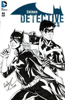 Batgirl and Nightwing sketch cover
