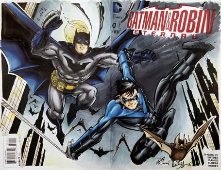 Scott McDaniel Batman Nightwing sketch colours