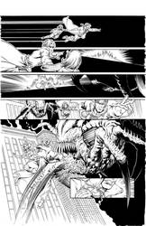 Guinevere and the Divinity Factory 1 page 14 inks