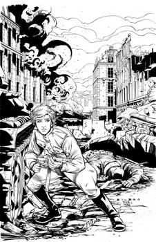 White Lily #3 cover inks