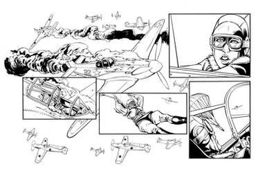 White Lily #3 page 4 inks