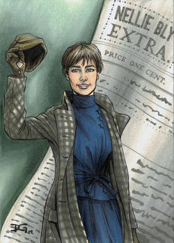Nellie Bly flashcard art