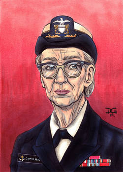 Grace Hopper flashcard art