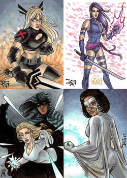 2019 Marvel Flair sketch cards