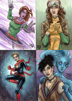 2019 Marvel Flair sketch cards