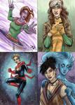 2019 Marvel Flair sketch cards by mechangel2002