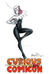 Spider-Gwen Curious ComiCon 2019 FCBD illustration by mechangel2002