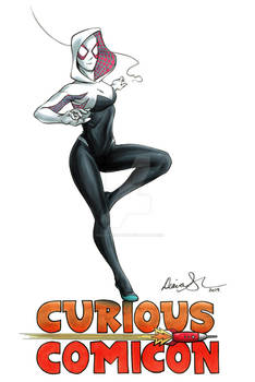Spider-Gwen Curious ComiCon 2019 FCBD illustration