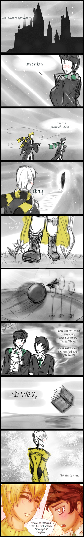 Love Song: I only date Quidditch Captains by allarica