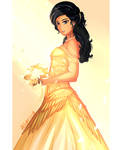 Isabelle Lightwood in Gold by allarica