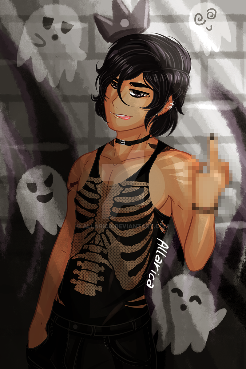 Punk Nico di Angelo by allarica on DeviantArt