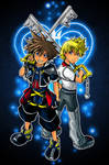 kingdom hearts: sora and roxas