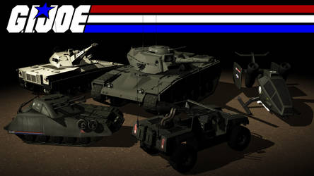 GI Joe Ground Vehicles 01 by Rooster3D