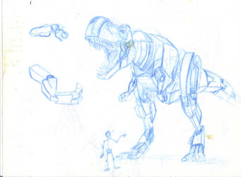 Grimlock Concept (NP Blue), scanned by Rooster3D