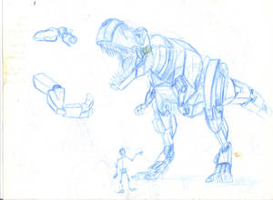 Grimlock Concept (NP Blue), scanned
