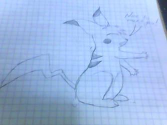 My first doodle: a RaiPikachu by Zeronightmore