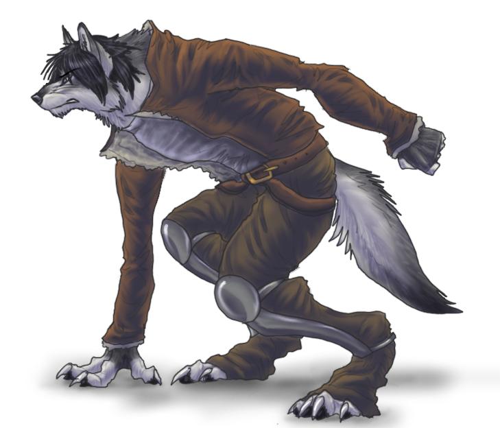 Quickdraw, Werewolf Style by Anuwolf
