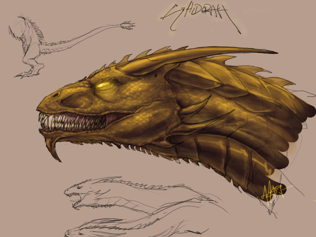 Ghidorah Sketches by Anuwolf on DeviantArt