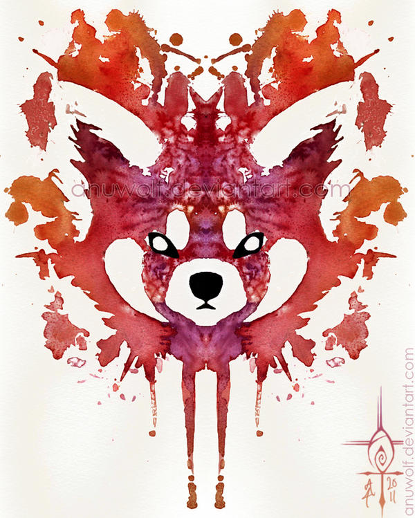 Red Panda Splatter by Anuwolf