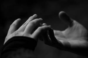 The touch of two lonely souls