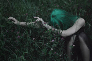 Green forest depression by NatalieVing