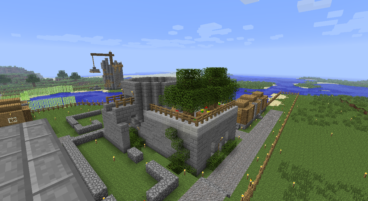 Working on a new building for the village by DPrime123